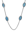 Charles Krypell Sterling Silver Turquoise Necklace