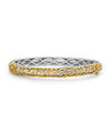 Charles Krypell 18K Gold & Sterling Silver Bangle Bracelet