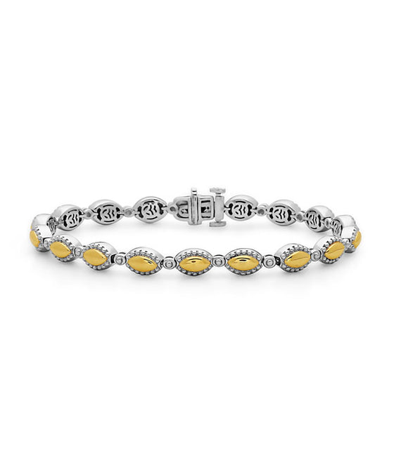 Charles Krypell 18K Gold & Sterling Silver Two-Tone Bracelet
