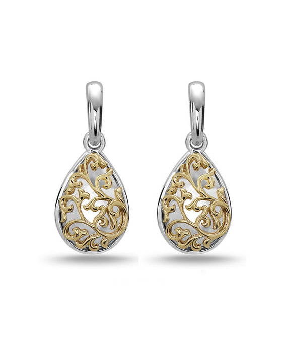 Charles Krypell 18K Gold & Sterling Silver Two-Tone Drop Earrings