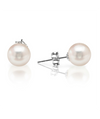 Pearl Studs 14K White Gold Fresh Water