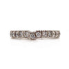 Solid 18K White Gold & Natural Diamond Band 13 Diamonds 0.65CTTW 3.7g Size 6 -  Estate Jewelry