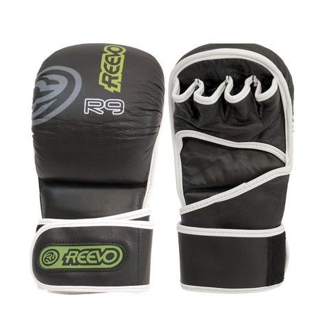Reevo R9 Gauntlet Hybrid MMA Gloves - Black