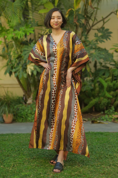 Janice Long Caftan - Brown