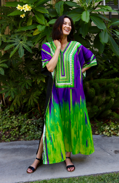 Amber Long Caftan- Purple