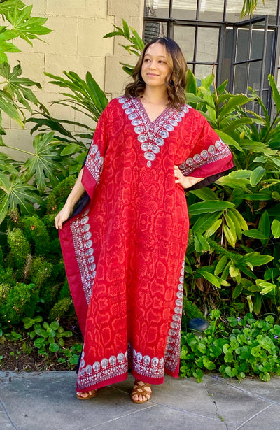 Charlotte Long Caftan- Red