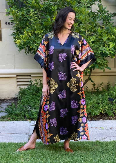 Laurel Long Caftan- Black