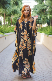 Taylor Long Caftan- Black