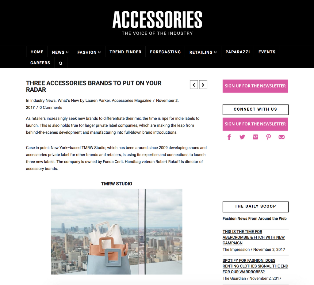 Accessories Magazine featuring FFC New York