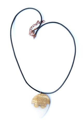 White Resin Acorn Shape Necklace