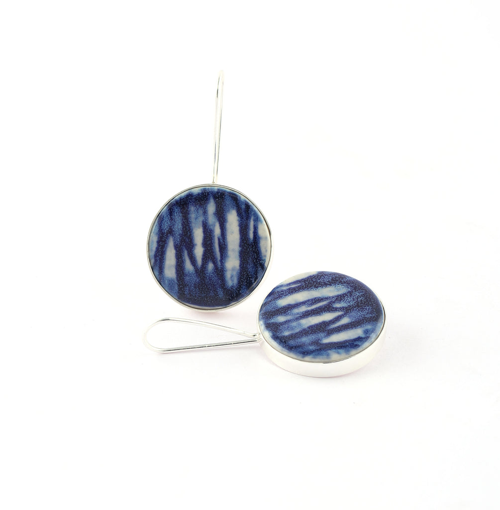 Large Ceramic Latch Back Earrings