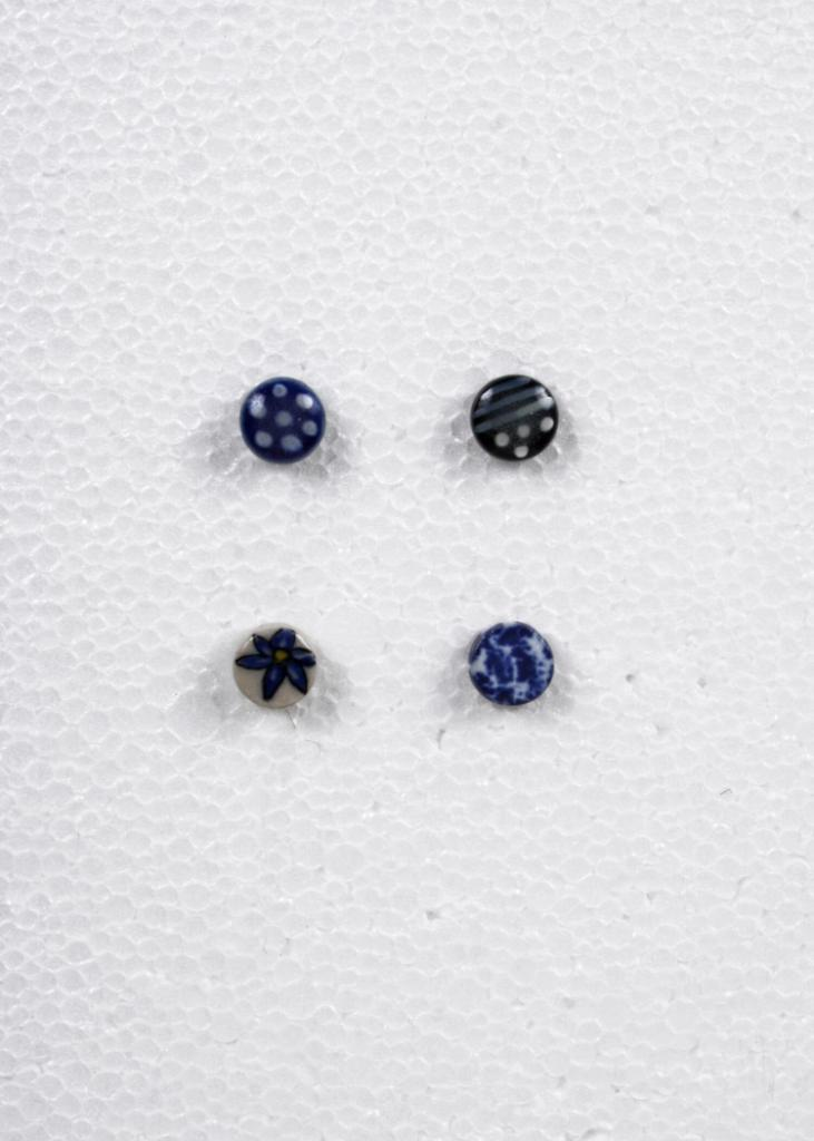 Patterned Ceramic Stud Earrings
