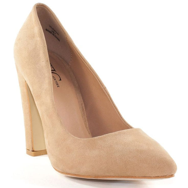 Microsuede Pointed toe shape Medium shoe width Slightly padded footbed Can enhance any outfit with sophistication Comfortable