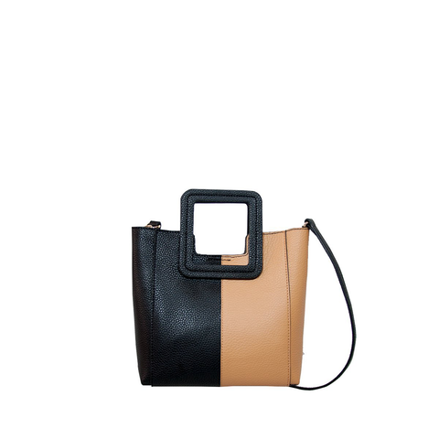 ANTONIO MINI COLOR BLOCK SQUARE HANDLE CROSS BODY