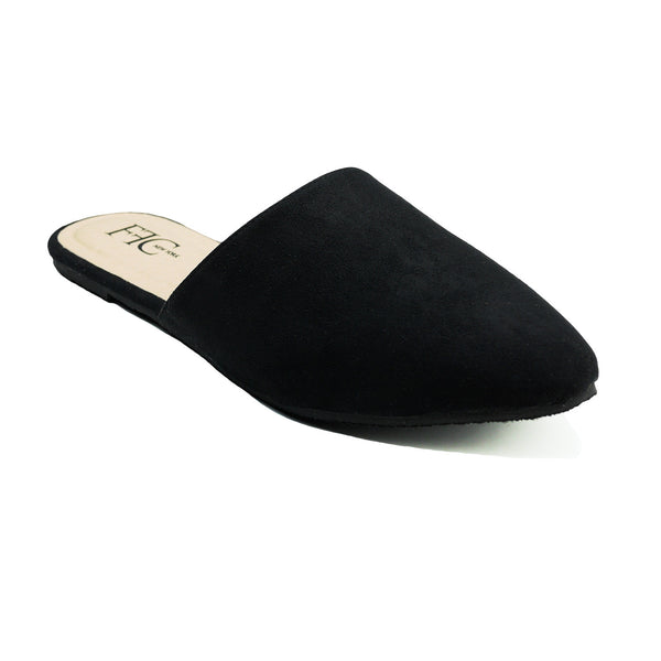 Microsuede Pointed Toe Mules Slip On Flats Trendy Comfortable For an everyday effortless look Comfortable