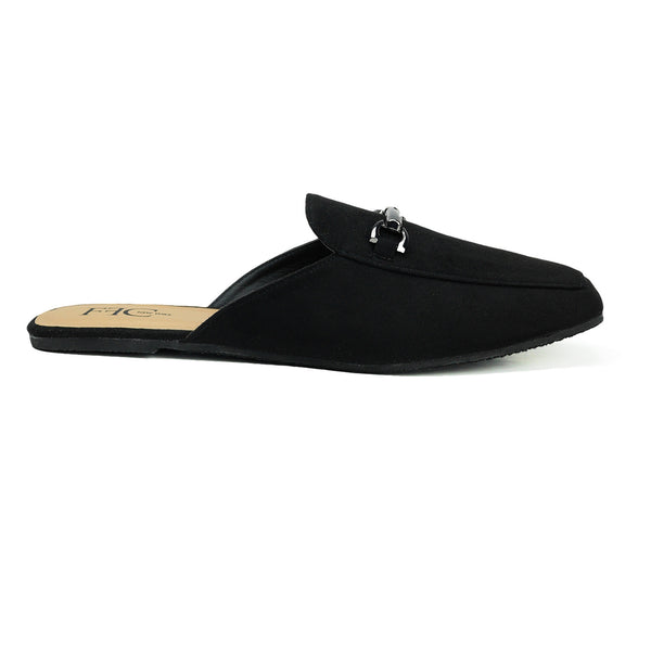 Microsuede Mule flats Trendy Easy to style Comfortable