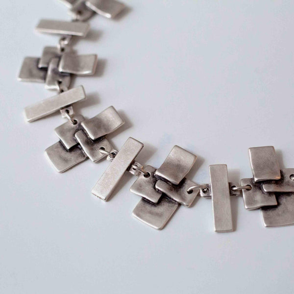 Pewter Quadrangle Necklace
