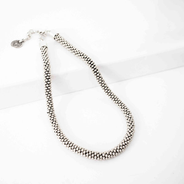 Pewter Braided Necklace