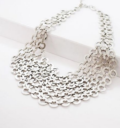Pewter Mesh Necklace