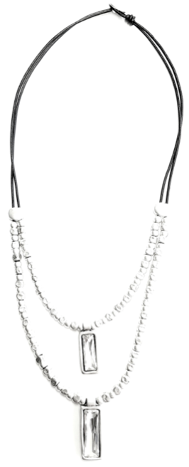Pewter & Leather Necklace