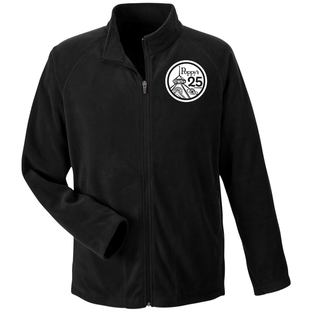 Poppy's 25th Anniversary Men's Microfleece Jacket - Black
