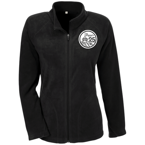 Poppy's 25th Anniversary Ladies' Microfleece Jacket - Black