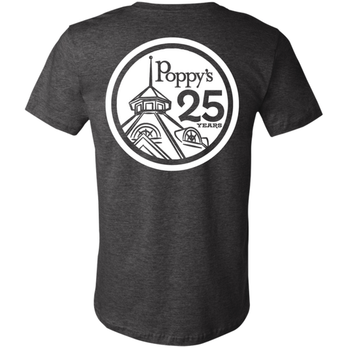 Poppy's Special Edition 25th Anniversary Men's T-Shirt - Dark Heather Grey
