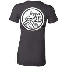 Poppy's Special Edition 25th Anniversary Ladies' T-Shirt - Dark Heather Grey