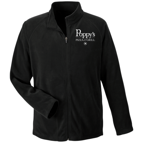 Poppy's Pizza & Grill Men's Microfleece Jacket - Black