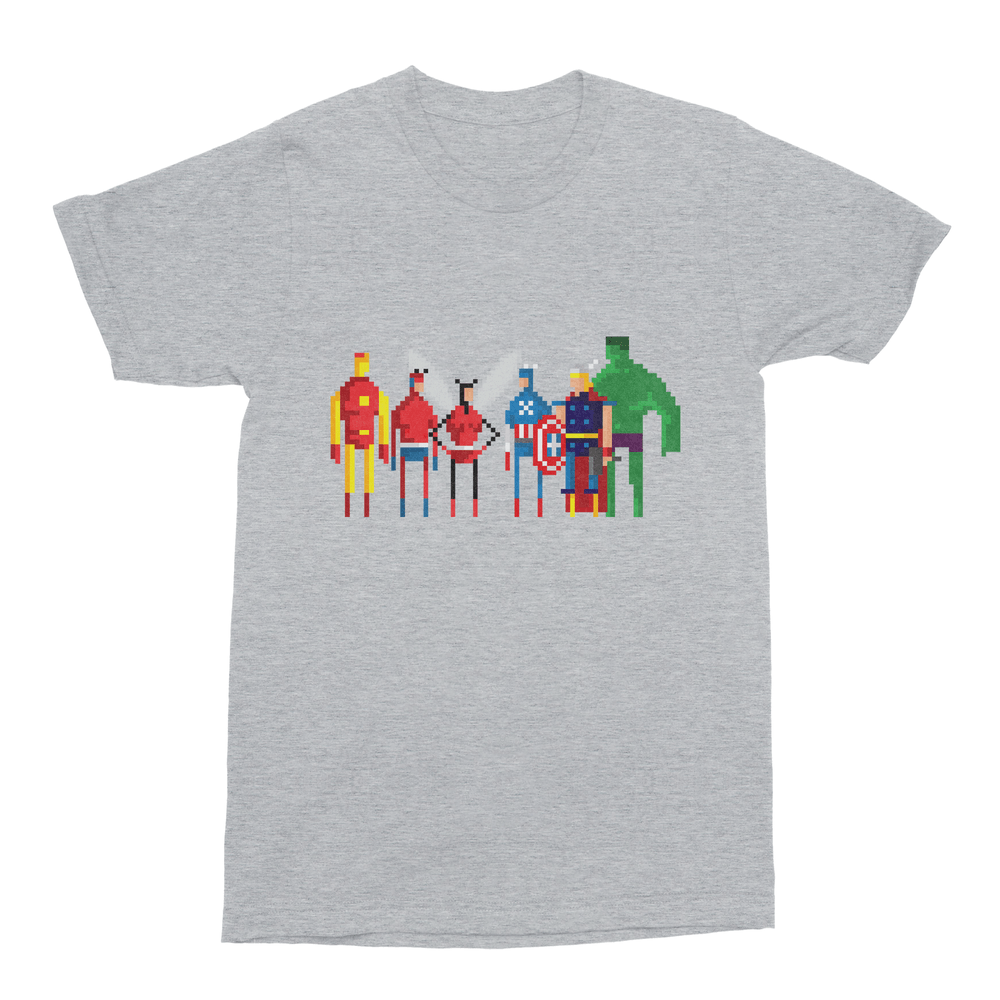 8-Bit Marvel Avengers Men's T-Shirt-Curartee