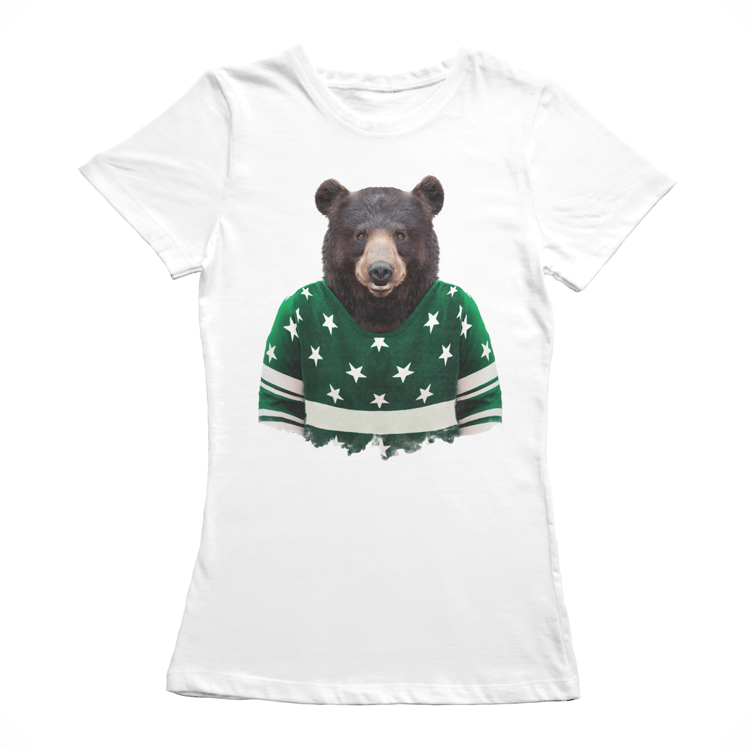 Asian Black Bear Women's T-Shirt - Premium Artwear Curartee