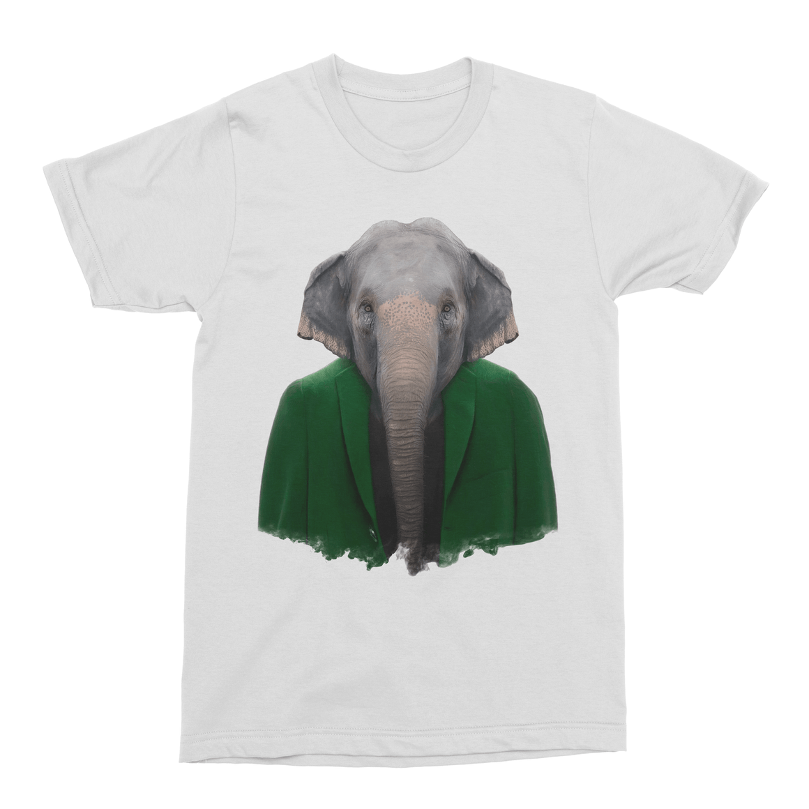 Asiatic Elephant Men's T-Shirt - Premium Artwear Curartee
