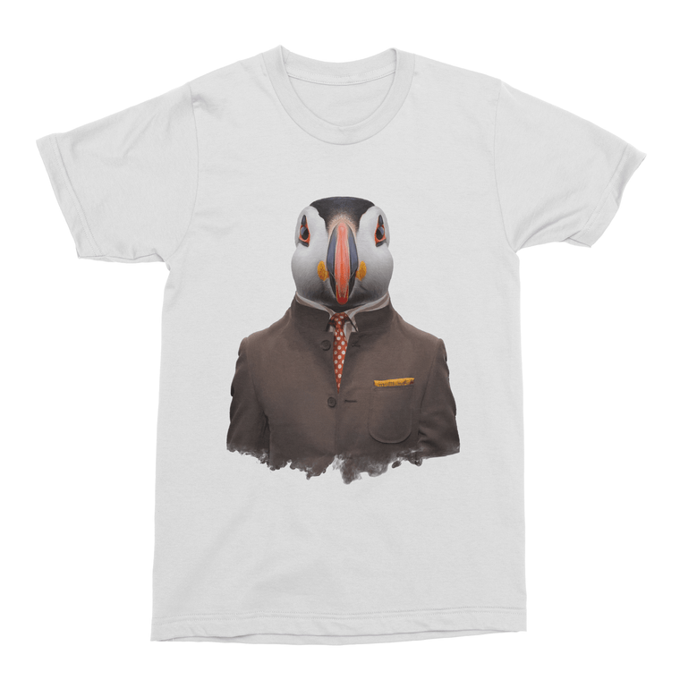 Atlantic Puffin Men's T-Shirt - Premium Artwear Curartee