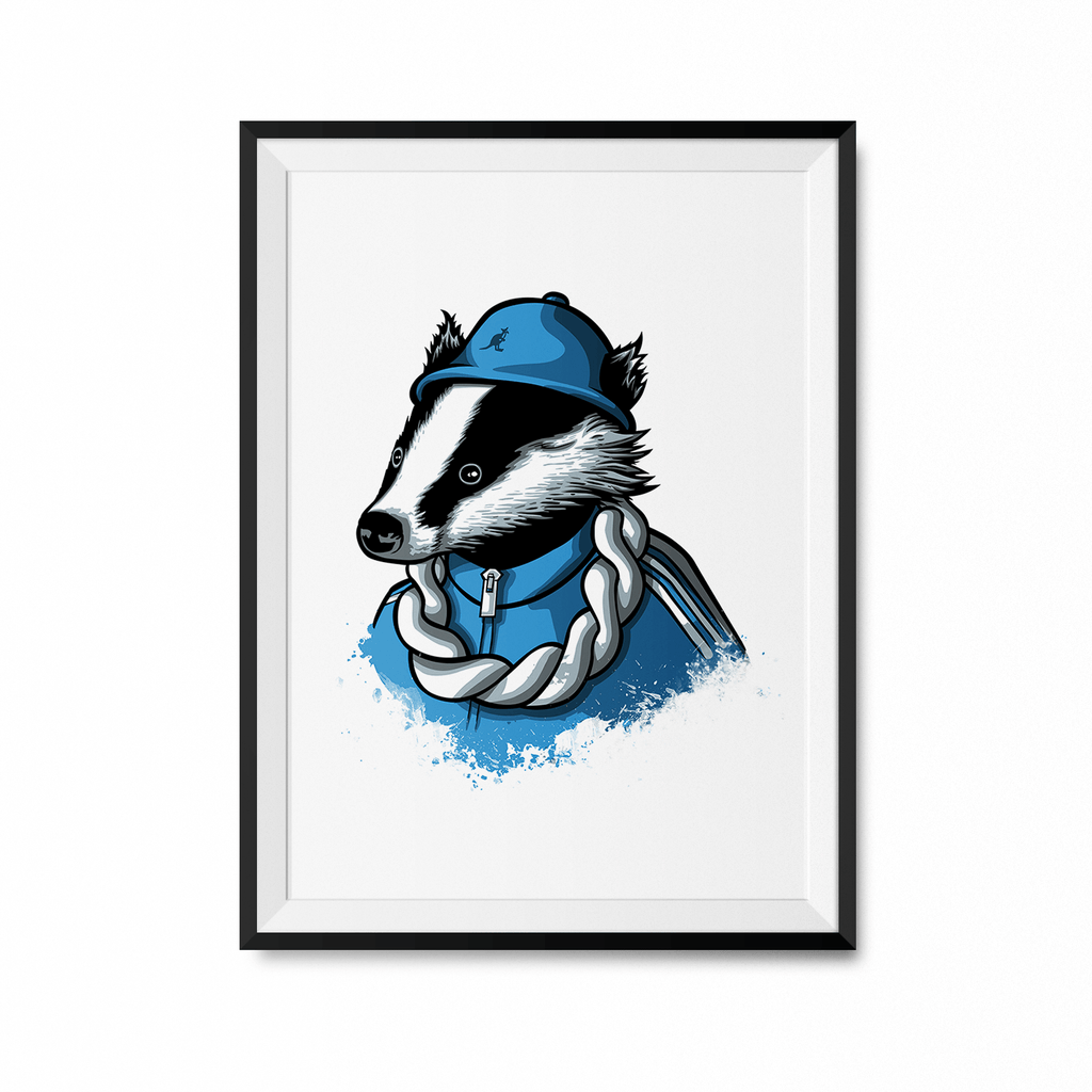 B-Boy Badger Art Print-Curartee