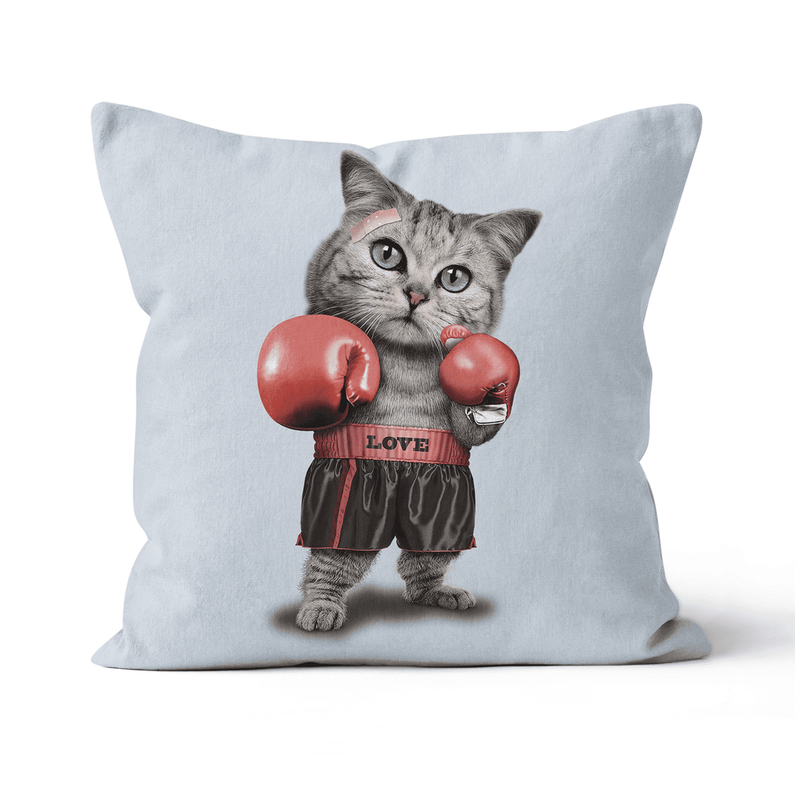 Boxing Cat Premium Throw Cushion / Pillow