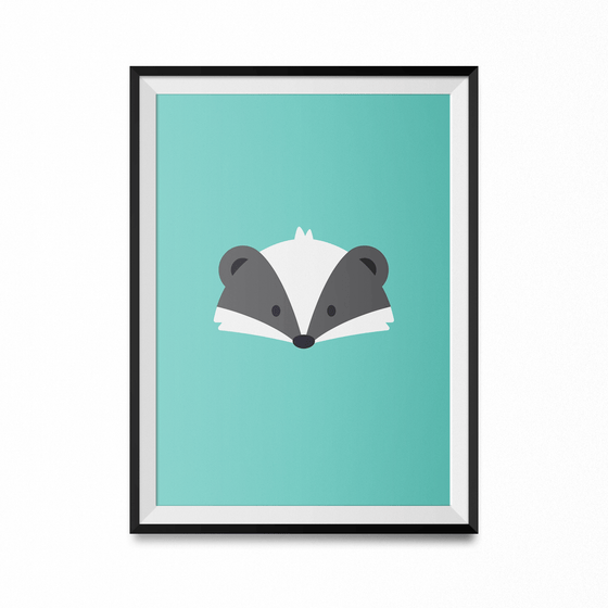 Badger Art Print-Curartee