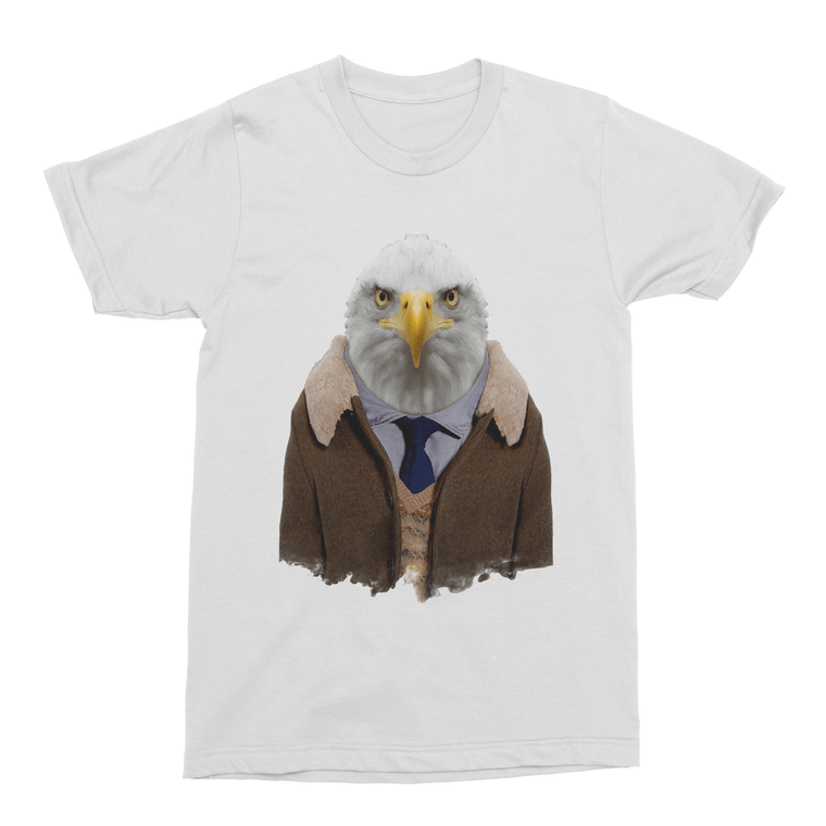 Bald Eagle Men's T-Shirt - Premium Artwear Curartee