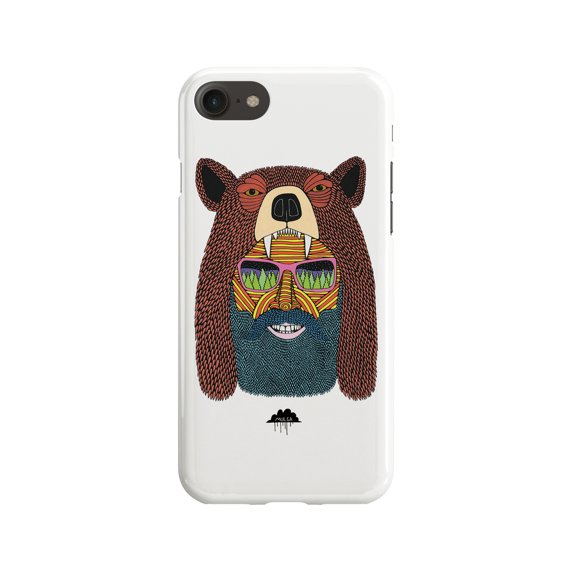 Bear Hat Bob Phone Case - Premium Artwear Curartee