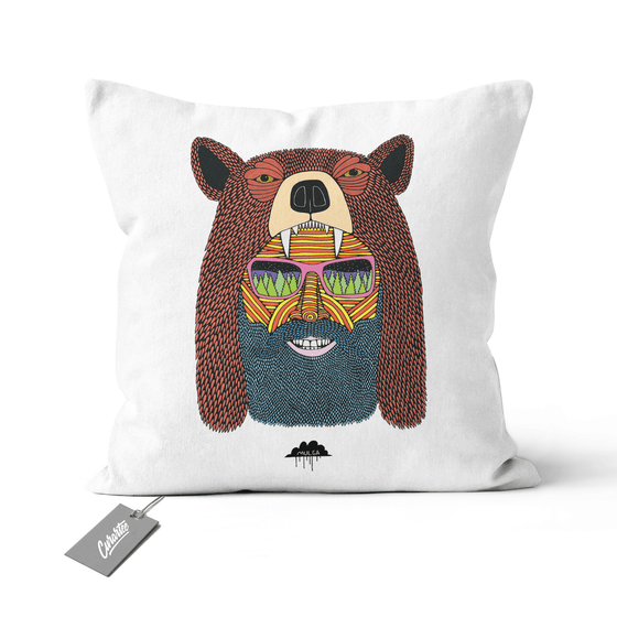 Bear Hat Bob Cushion - Premium Artwear Curartee
