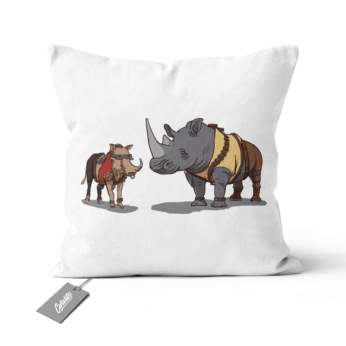 Bebop and Rocksteady Cushion - Premium Artwear Curartee