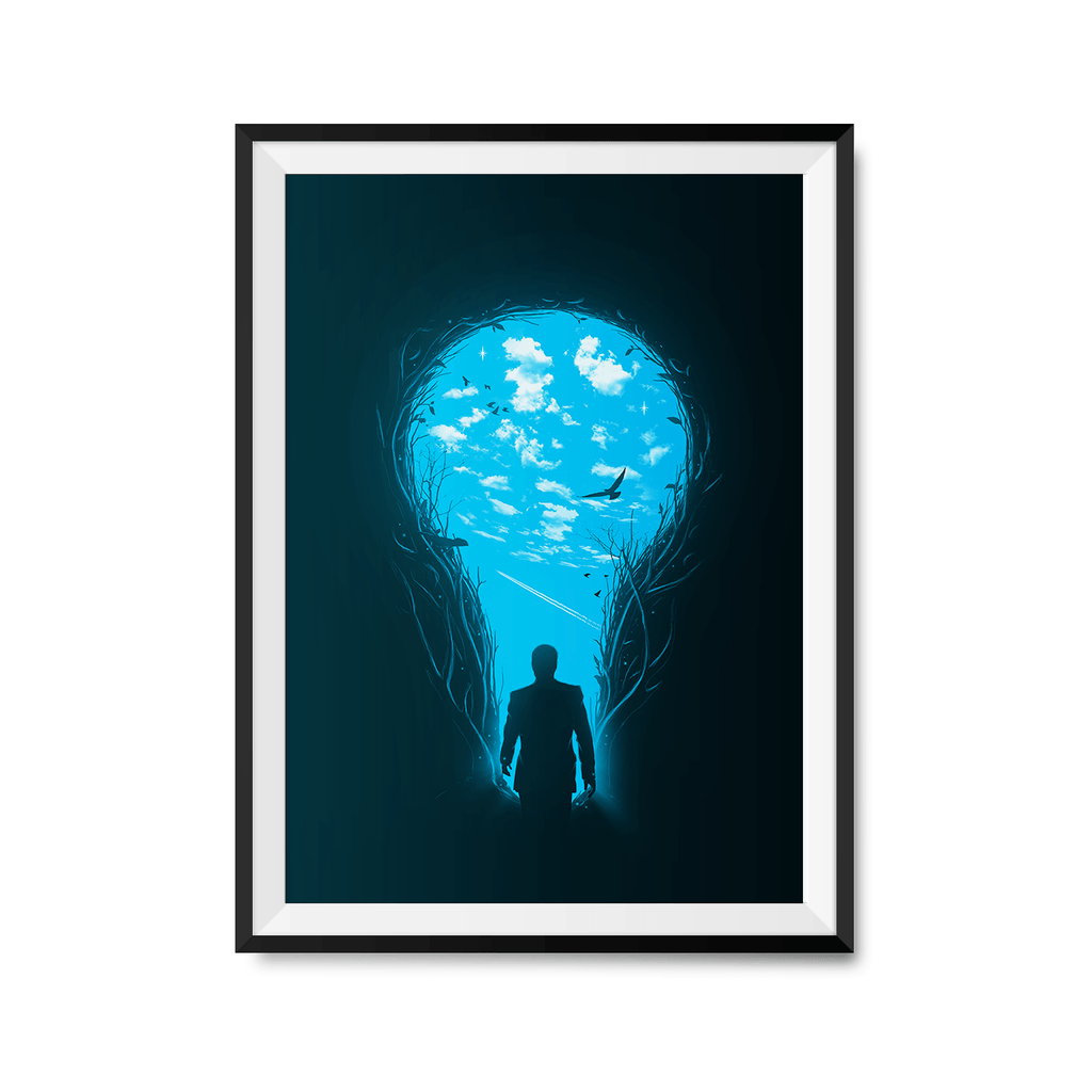 Brighter Side Art Print-Curartee
