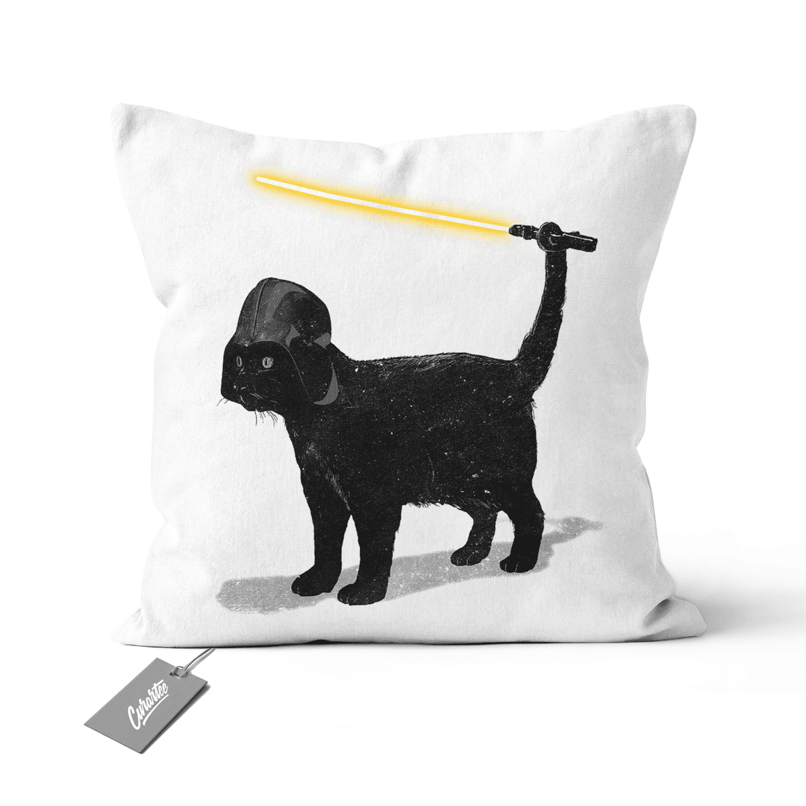 Cat Vader Cushion - Premium Artwear Curartee