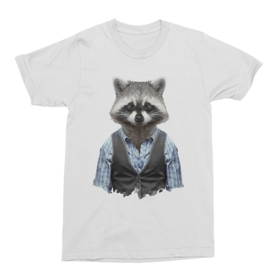 Common Raccoon Men's T-Shirt - Premium Artwear Curartee
