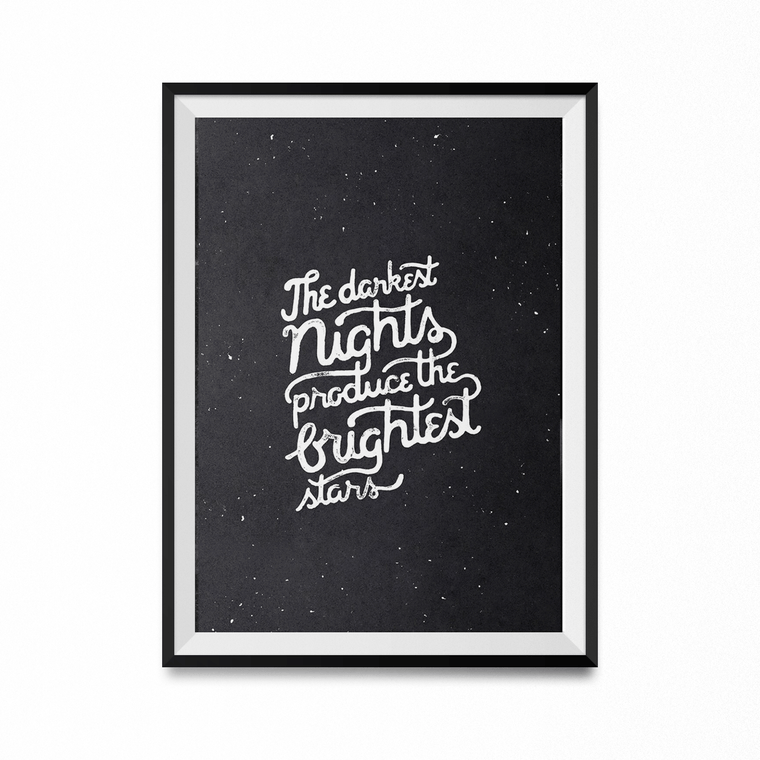 Darkest Nights Brightest Stars Art Print-Curartee