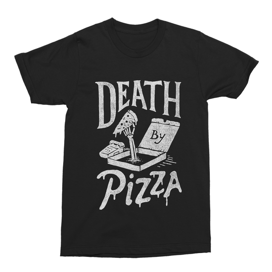 Death by Pizza Men's T-Shirt-Curartee