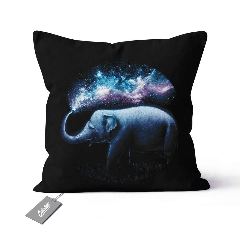Elephant Splash Cushion - Premium Artwear Curartee