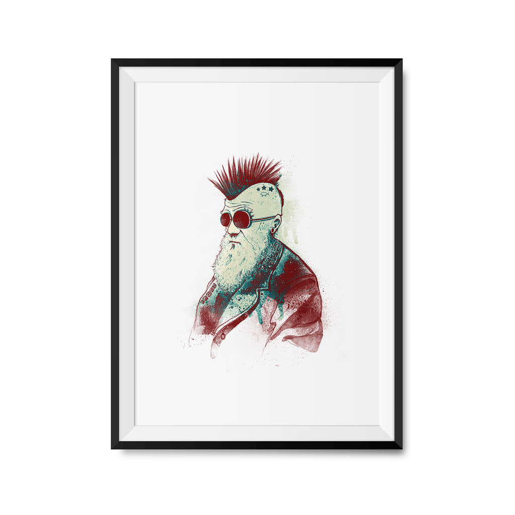 Evolution of Charles Art Print-Curartee