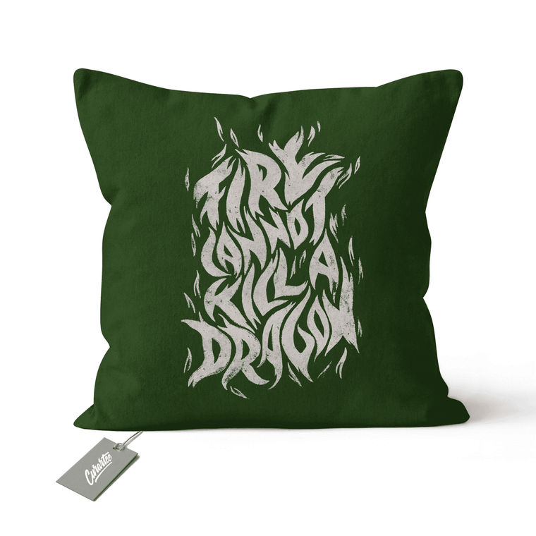 Fire Cannot Kill a Dragon Cushion - Premium Artwear Curartee