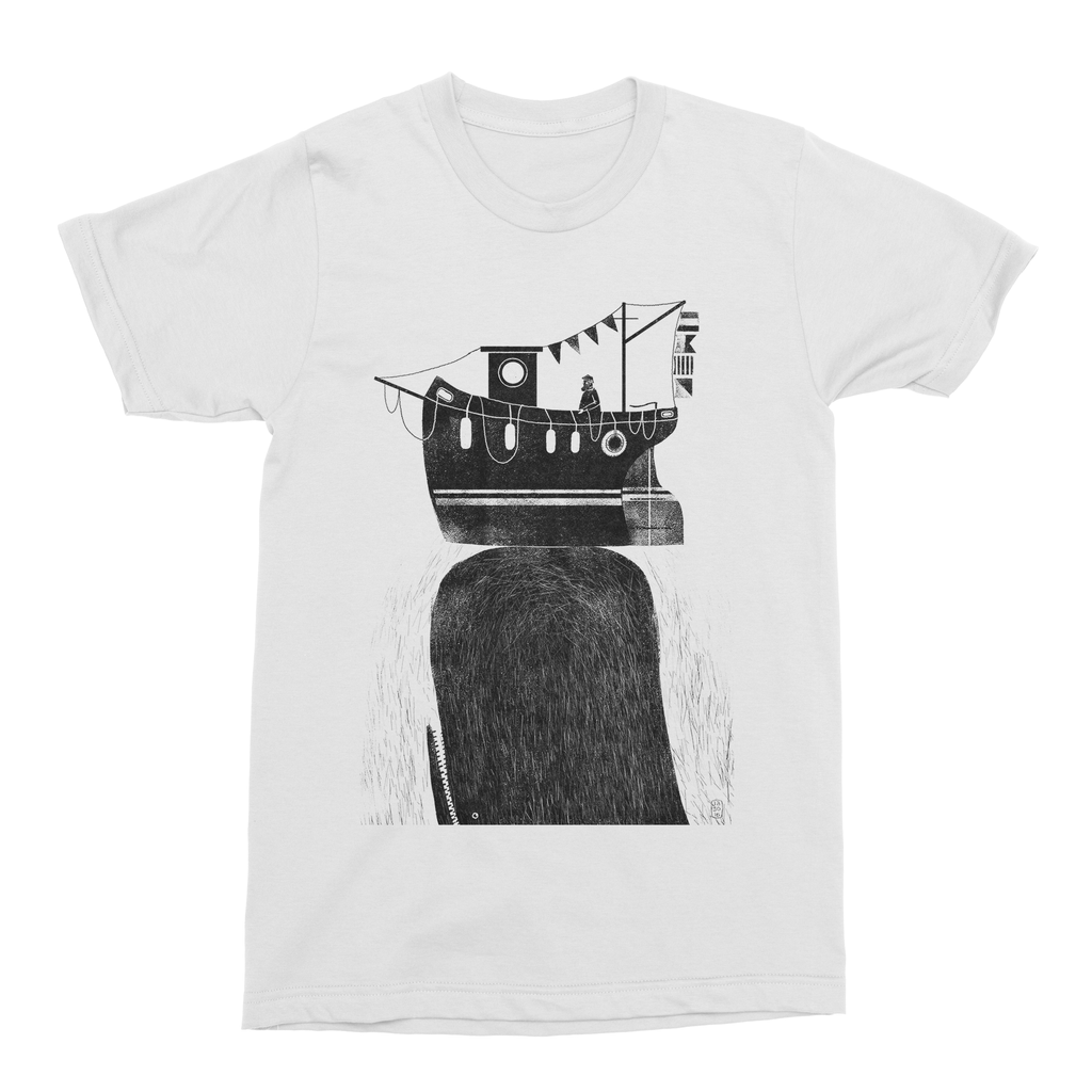 Fishing Boat & Whale Men's T-Shirt-Curartee