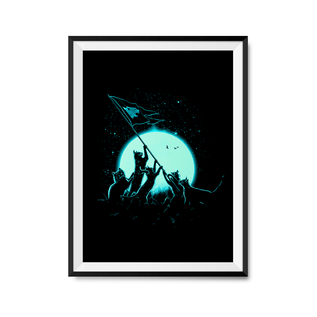 Freedom Cats Art Print-Curartee